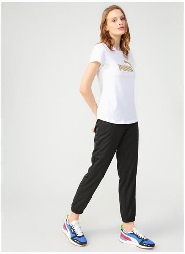 Puma Puma 58240702 ESS+ Metallic Tee Beyaz Kadın T-Shirt Beyaz